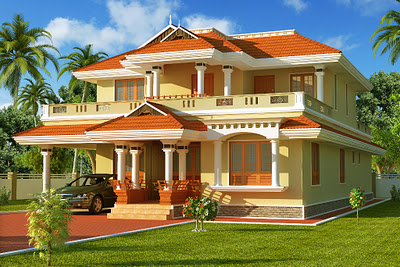 Design Modern Home on Modern Kerala Home Design  South Indian Style House Home 3d Exterior