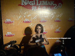 Karen Kong interviewed at Nasi Lemak 2.0 gala premiere movie screening