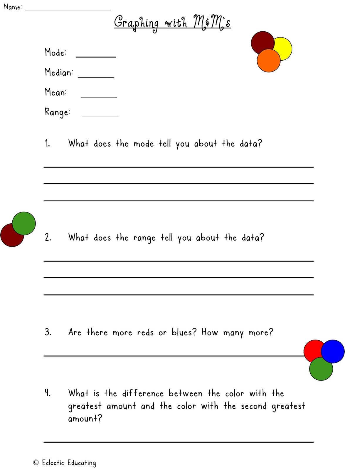 find the median worksheet