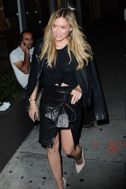 Actress, Singer @ Hilary Duff - out to dinner in West Hollywood