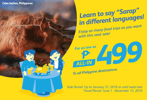 Cebu Pacific 499 Promo Fare 2016