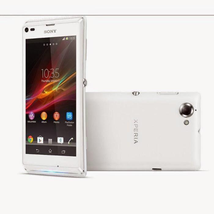 Sony Xperia L Blanc Comparatif Smartphone 4.3 Pouces