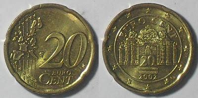 austria euro 20 cent 2002
