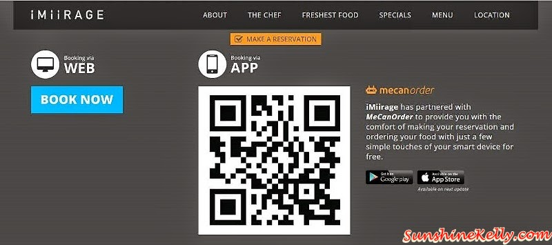 iMiirage Reservation, MeCanOrder App, iMiirage @ Ipoh SoHo, iMiirage, Ipoh soho, ipoh, soho, World's 1st Ambience Dining Experience