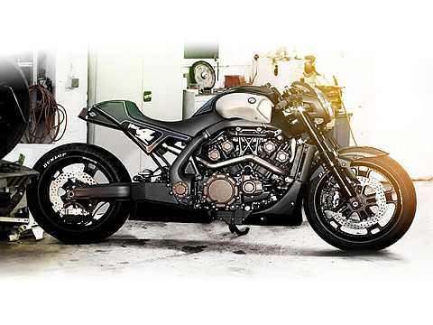 2013 Yamaha VMAX Hyper Modified Roland Sands Motorcycle Photos, 480x360 pixels