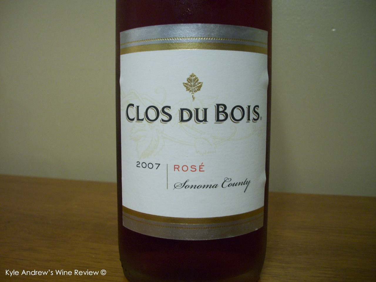 Kyle andrew 39 s wine review clos du bois ros for Clos du bois