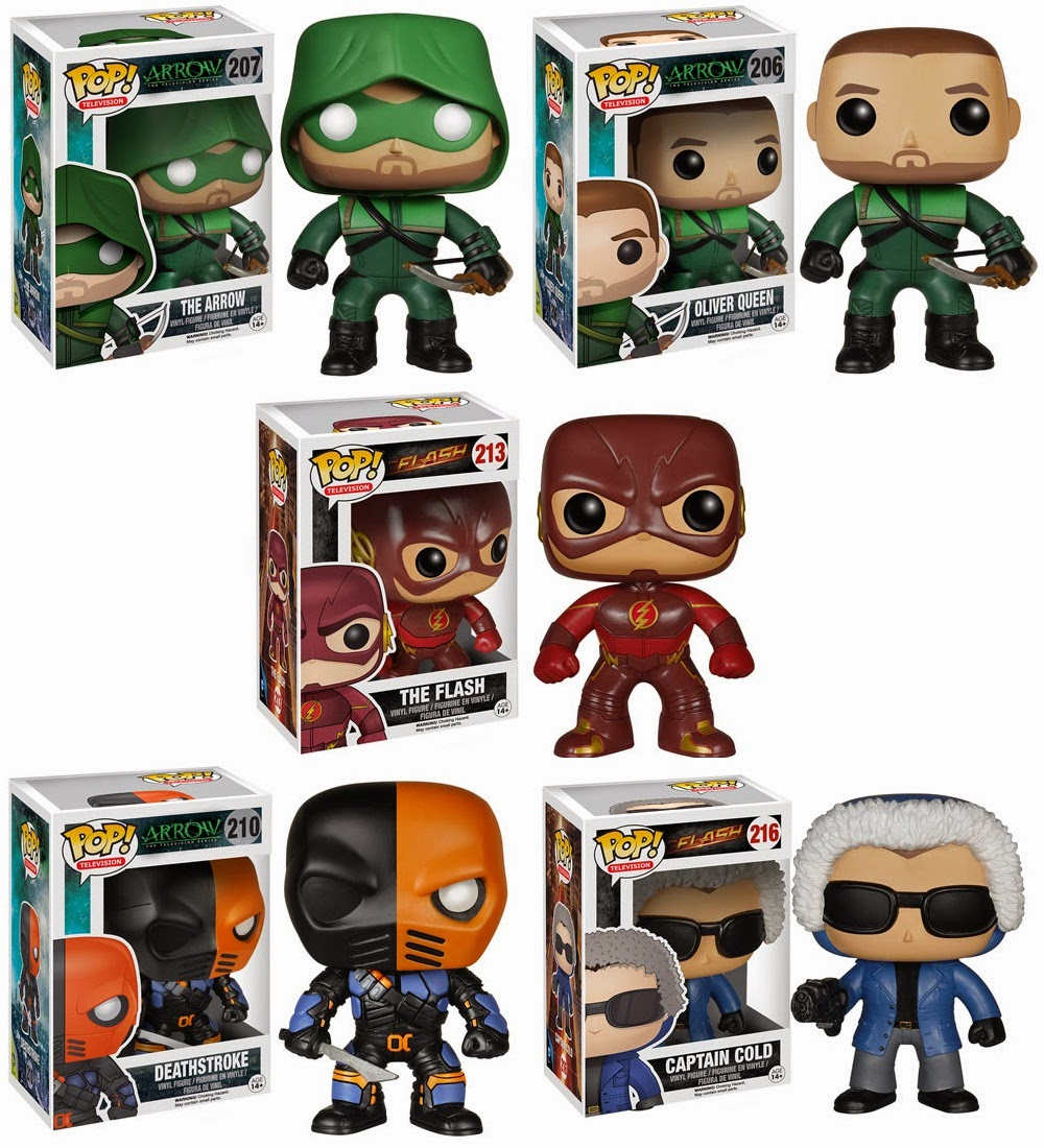 Arrow & The Flash TV Series Pop! Vinyl Figures by Funko - The Arrow, Oliver Queen, The Flash, Deathstroke & Captain Cold