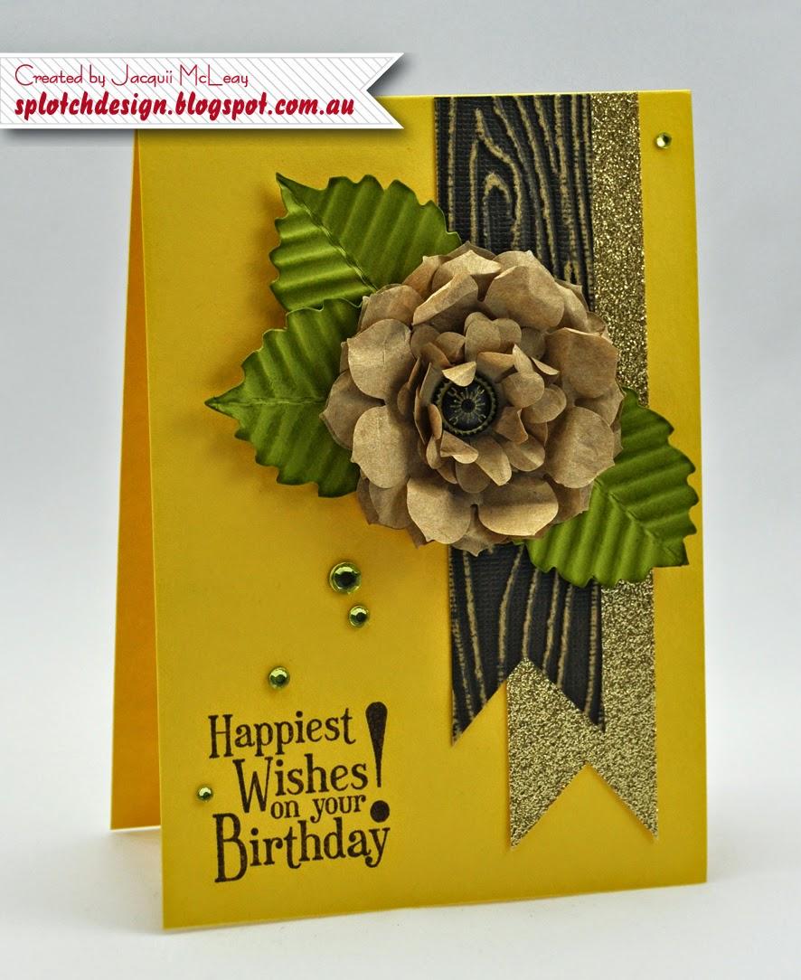Splotch design independent stampin up demonstrator flower flower birthday card izmirmasajfo
