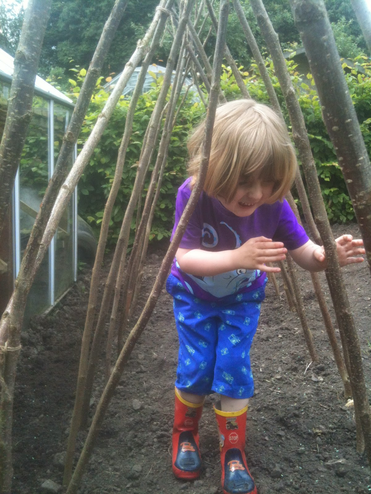 Kids love places to hide under when growing