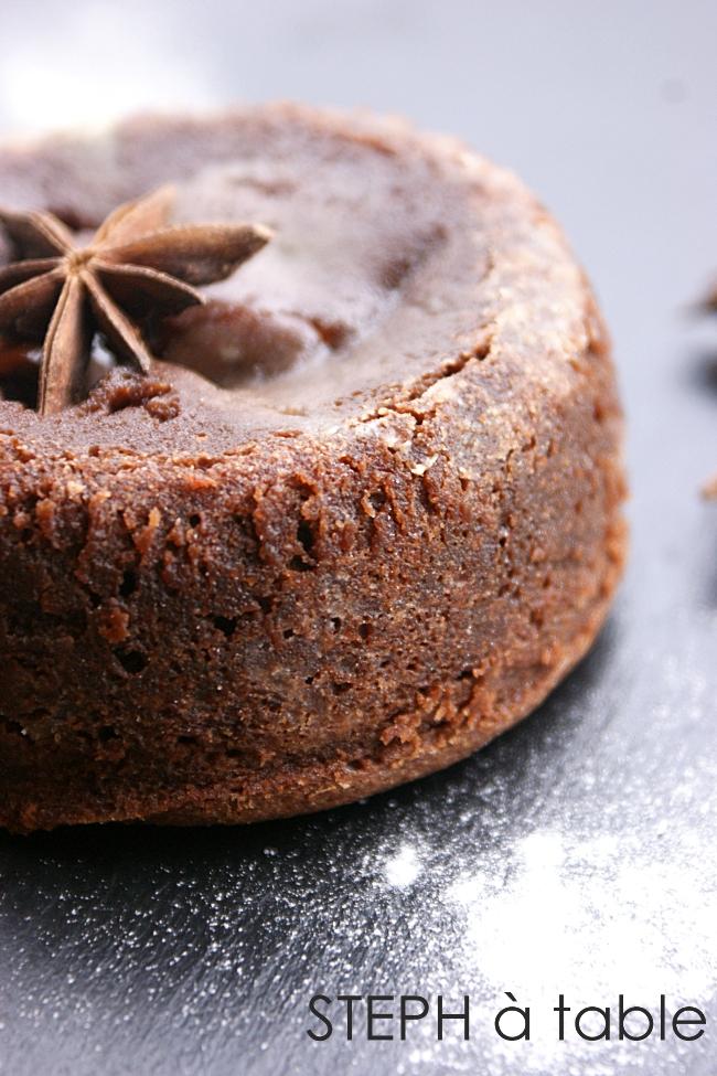 stephatable l inratable moelleux au chocolat au cœur coulant pralin 233