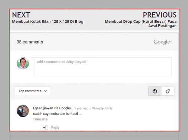 Akhirnya! Google Plus Comments Bisa Responsive