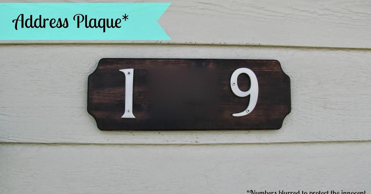 Adventures in diy address plaque for Location plaque garage