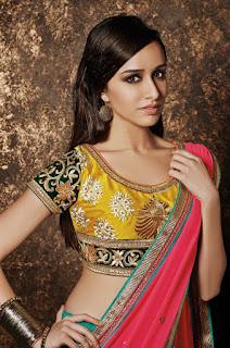 Shraddha Kapoor Looks Stunning in Bridal Saree Choli Stunning Beauty Shraddha Kapoor