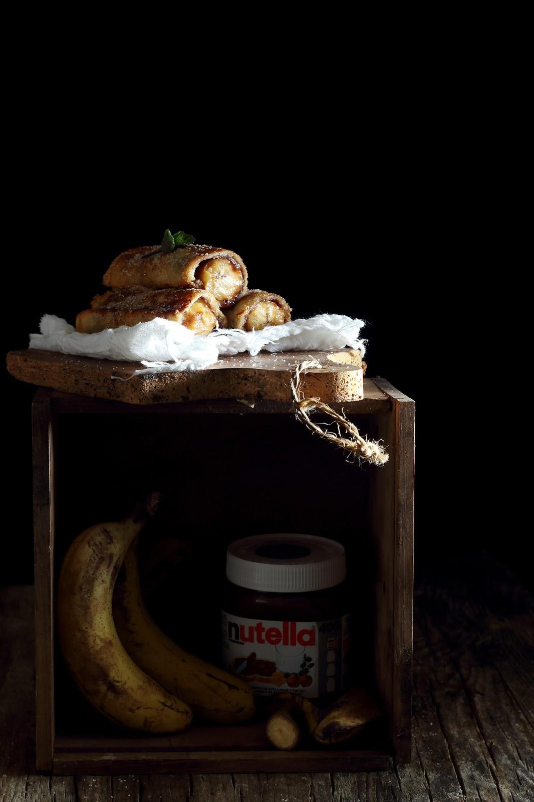 Torrijas de plátano y nutella ( French Toast Roll-Ups)