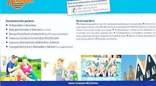 www.roompot.nl/princess 100 euro kortin