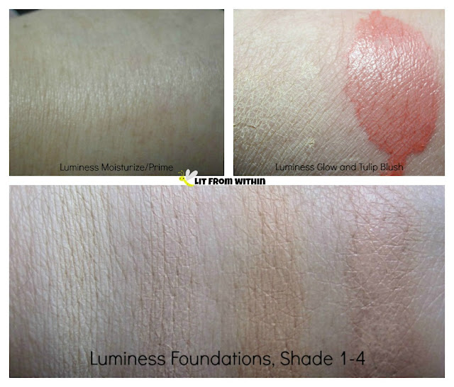Luminess Air makeup swatches