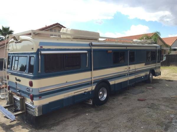 Used rvs 1985 bluebird wanderlodge for sale by owner for Motor home for sale by owner
