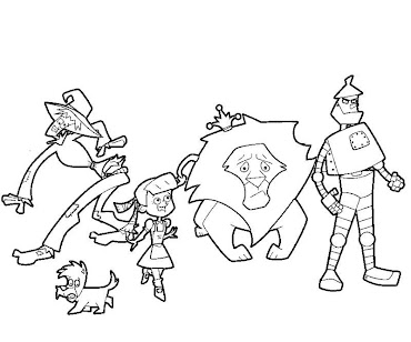 #7 Wizard of Oz Coloring Page