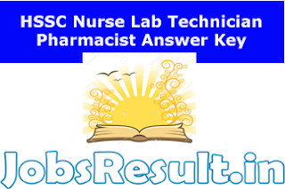 HSSC Nurse Lab Technician Pharmacist Answer Key