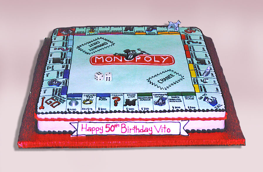 Cake Place Monopoly Game Cake