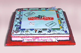 monopoly game cake