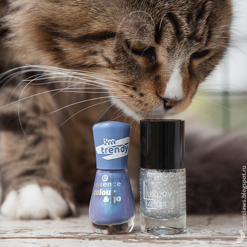 Catrice Luxury Lacquers Million Brilliance C01 BRIGHTsmaid + Essence #173 Over the Rainbow