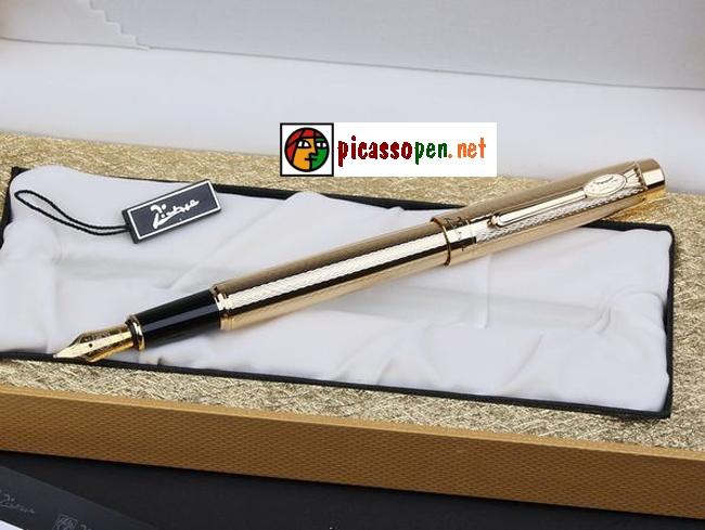 Bút ký cao cấp Picasso 933 - Bút máy màu vàng