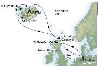 Cruisereis Noord-Europa 2017