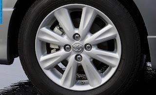 Toyota Yaris car 2012 tyres/wheel - صور اطارات سيارة تويوتا يارس 2012