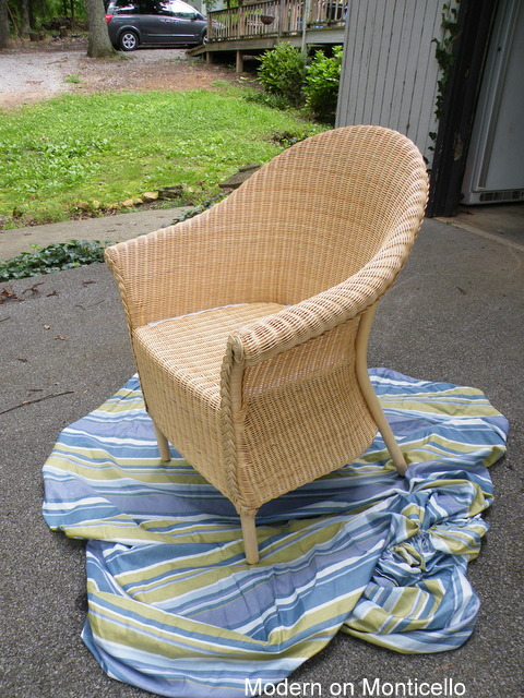 My Vision For My Screen Porch Room Is That It Is Going To Be A Colorful And  Fun Room. But I Just Couldnu0027t Make Myself Paint This Wicker Chair In A  Bright ...