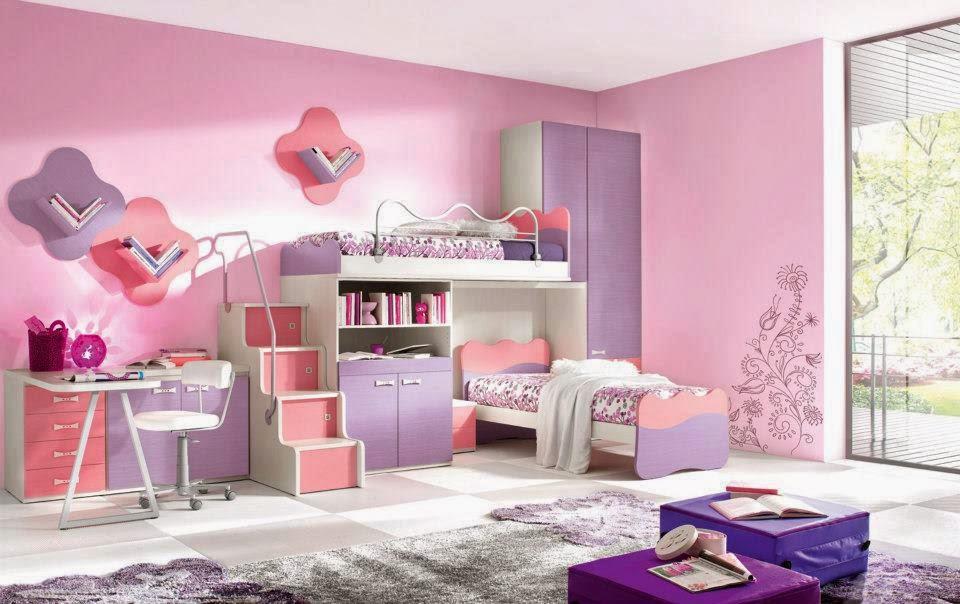 idée de couleur de chambre pour fille  idées déco pour maison ...