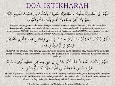 Tata cara Shalat Istikharah Dan Doa shalat Istikharah