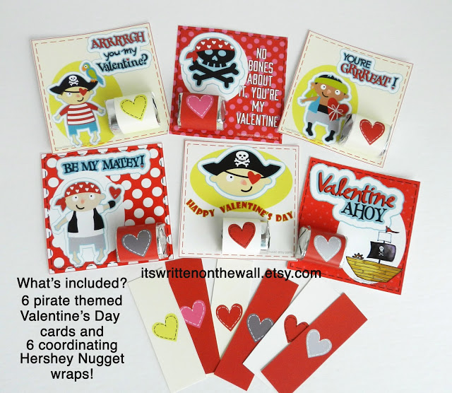 More Pirate Valentine Cards