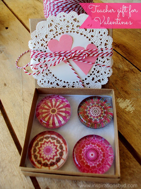 pink glass magnets