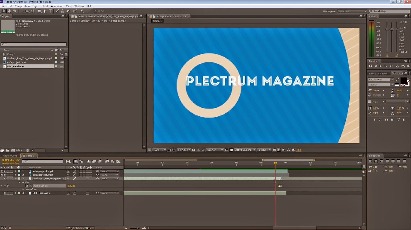 how to fix delayed audio on adobe after effects