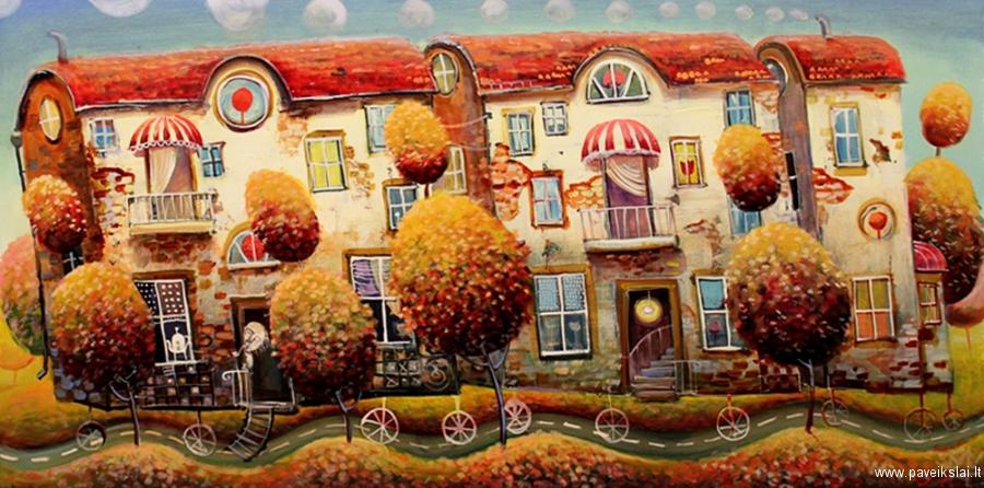 Modestas Malinauskas-異界車輛油畫立陶宛藝術家 - milk  - ☆ Milk ☆ 平平。淡淡。也是真。