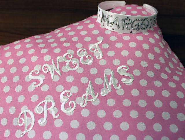 personalized headband and name pillow