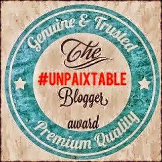 """Ένα βραβείο από το """"Unpaixtable Blogger Award"""""""
