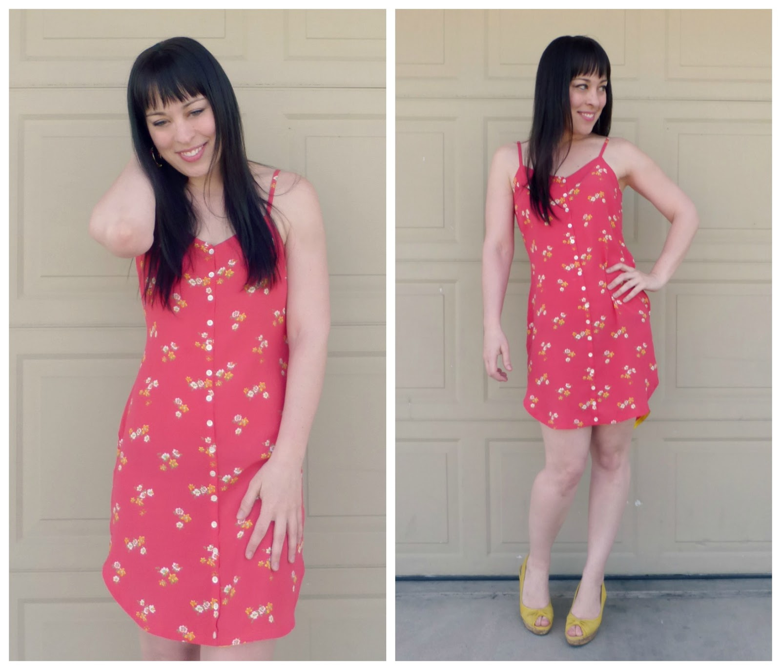 refashioned pink gap dress