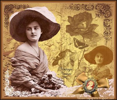 fondo vintage para scrapbooking con dama victoriana y camafeo