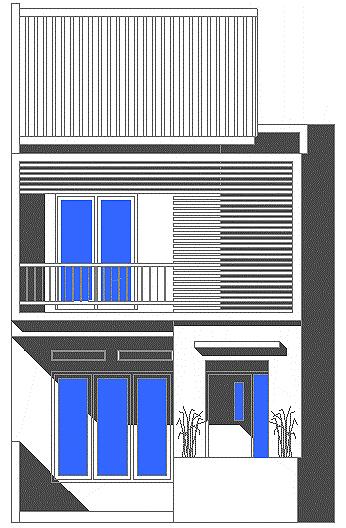 gambar fasad desain rumah minimalis di lahan sempit