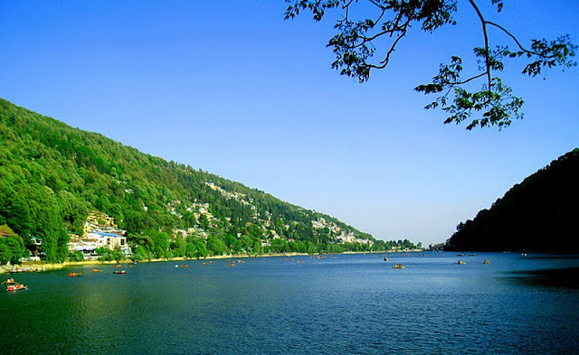 morning view of nanital lakes and city