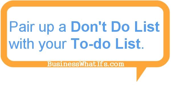 Don't Do List