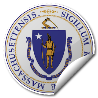 Sticker of Massachusetts Seal
