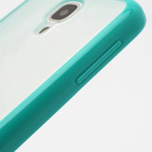 Hybrid Case : TPU Edges and Transparant Back Case Samsung Galaxy S 4 IV i9500 i9505 - Green