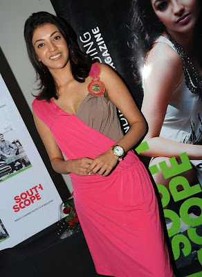 Kajal Agarwal Hot Pink Skirt at South Scope Function Stills