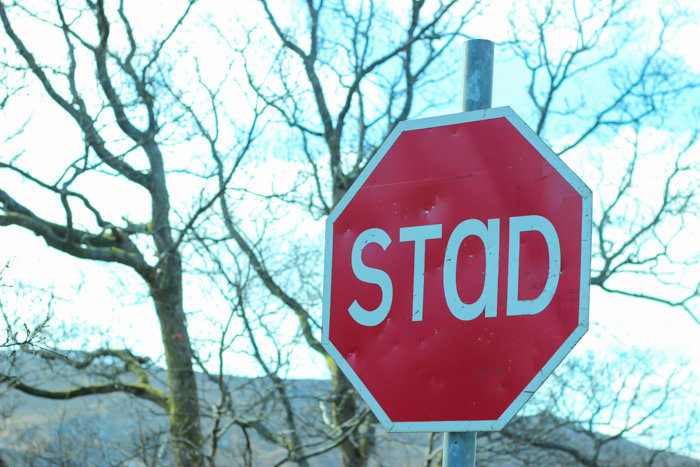 Irish Stop Sign