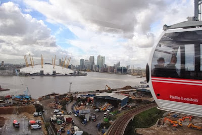 O2 millenium dome from cable car