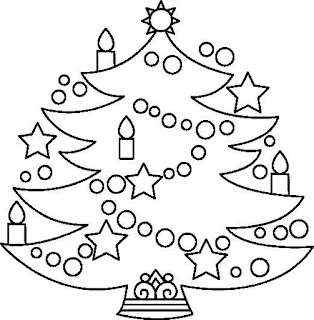 Natal Desenhos de Arvores para Colorir