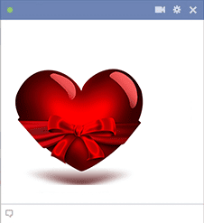 Heart with bow Facebook sticker